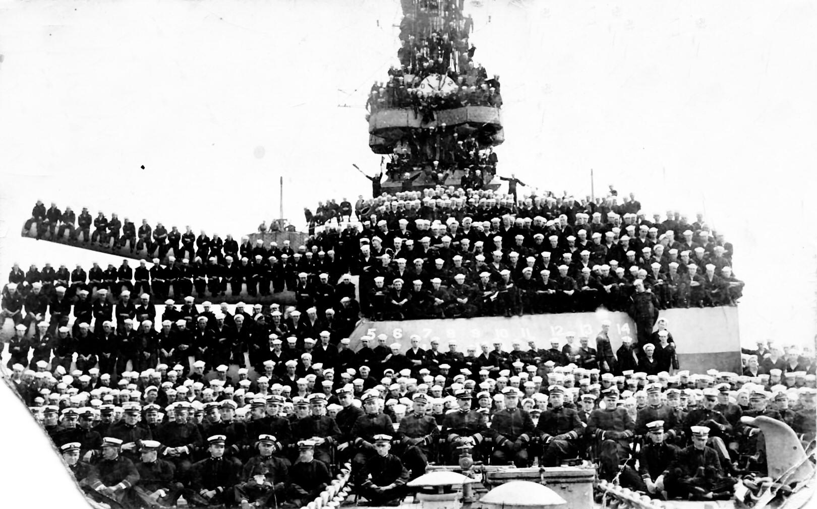 Battleship Texas BB35 1918 north sea world war one