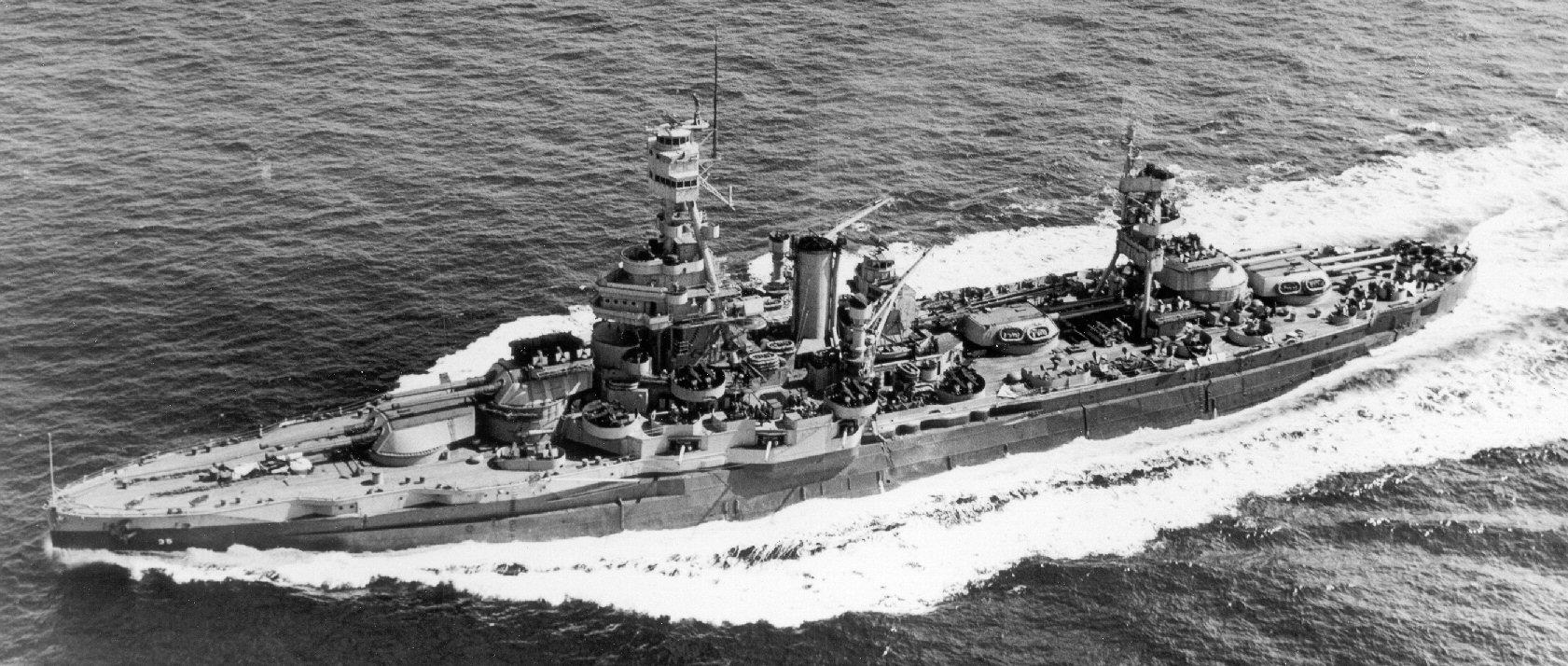 Battleship Texas Bb35 World War Ii Cherbourg Battle